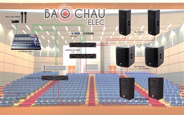 Tìm hiểu dịch vụ tư vấn, lắp đặt âm thanh sân khấu của Bảo Châu elec