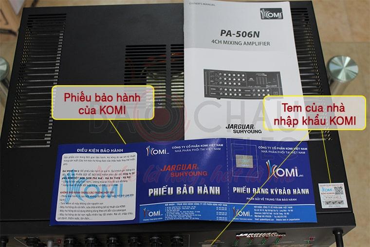 Xem Amply Jarguar Suhyoung PA 506N chính hãng là như thế nào