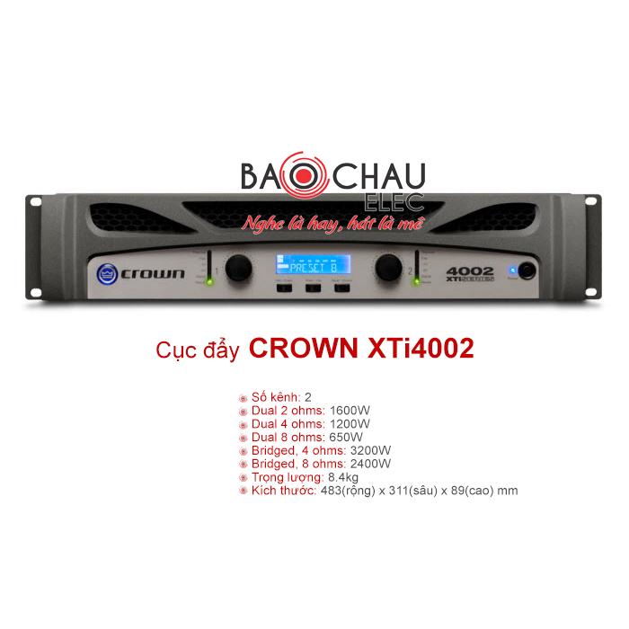 Cục đẩy Crown XTi 4002