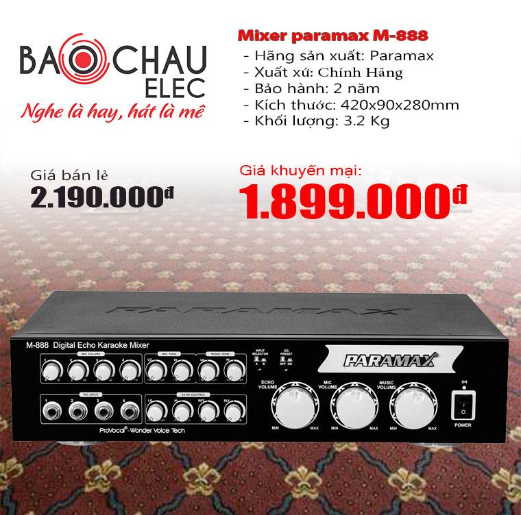 Mixer karaoke paramax M-888