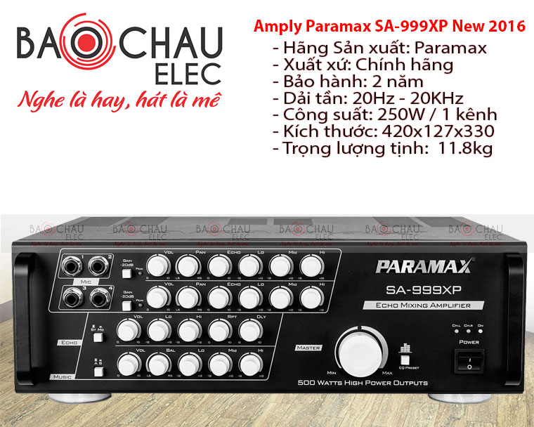 Amply PARAMAX SA 999XP