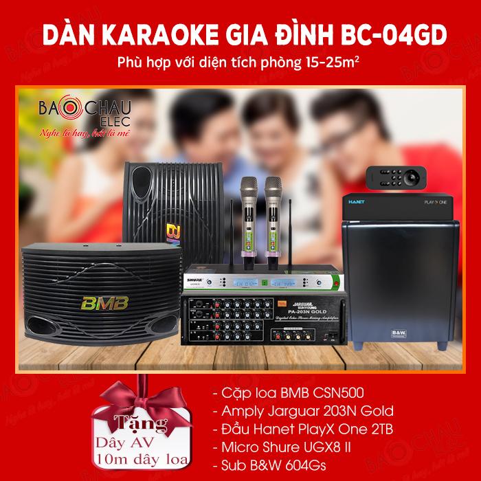 Dàn karaoke gia đình BC-04GD