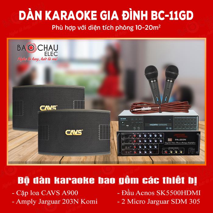 Bộ dàn karaoke gia đình BC-11GD