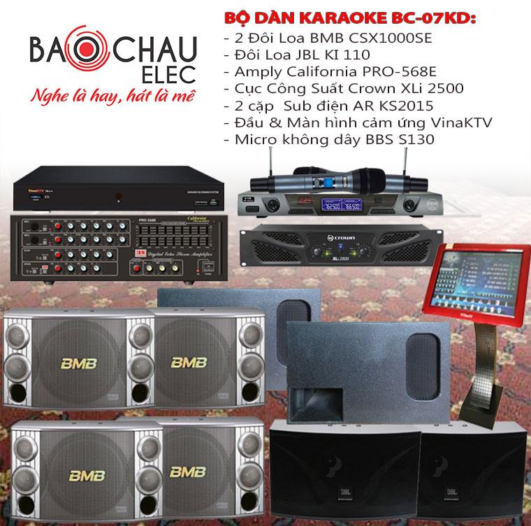 Bộ dàn karaoke kinh chuyên nghiệp số 07