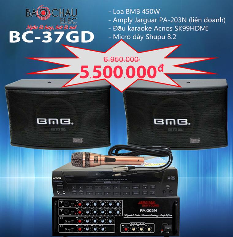 Bộ dàn karaoke gia đình BC-37GD