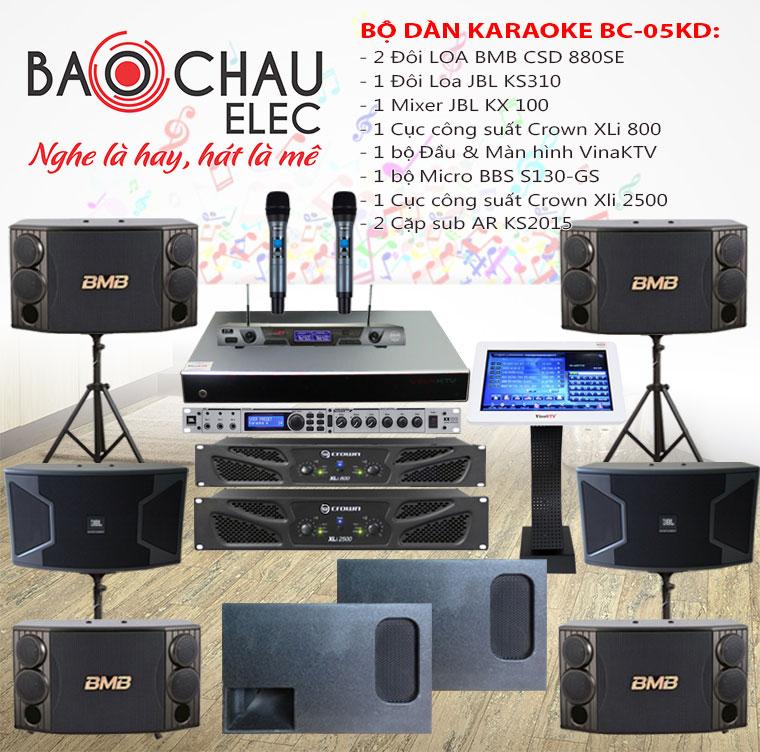 Bộ dàn karaoke kinh chuyên nghiệp số 05
