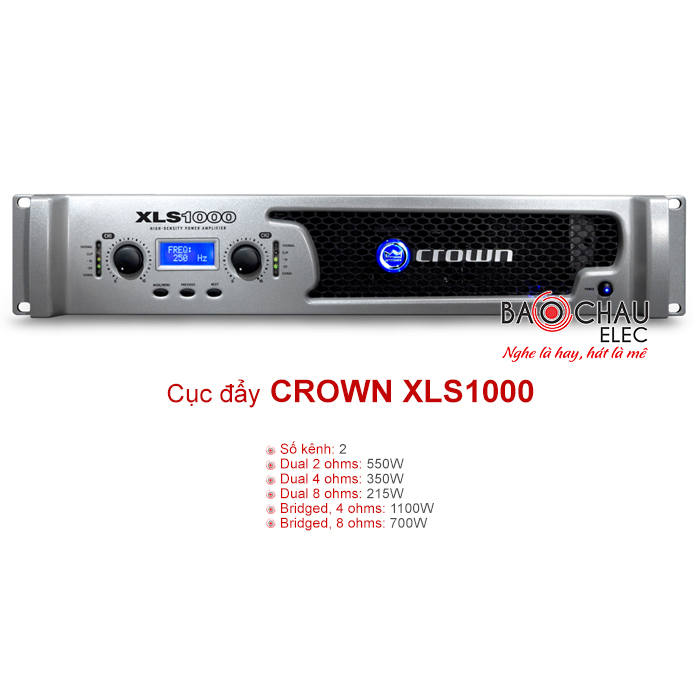 Cục đẩy Crown XLS 1000