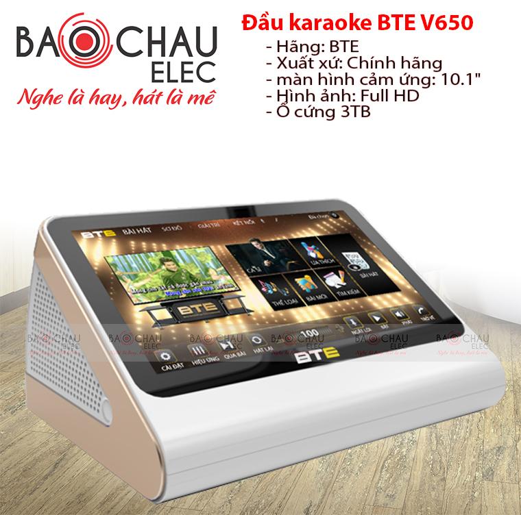 Đầu karaoke BTE V650 3TB