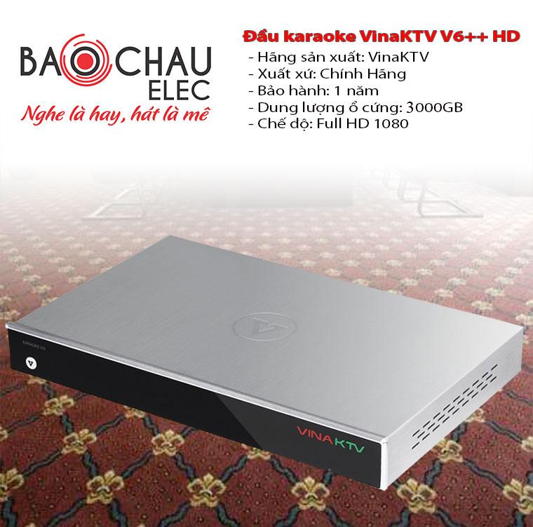 Đầu karaoke VinaKTV V6++HD 3000GB