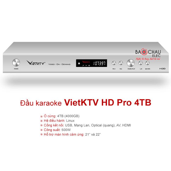 Đầu karaoke ViệtKTV HD Pro 4TB