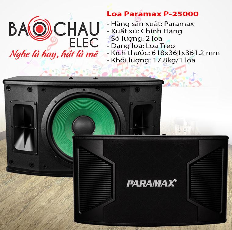 Loa karaoke Paramax P2500