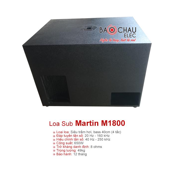 Loa sub Martin M1800