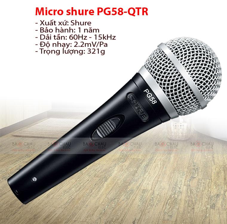 Micro karaoke Shure PG58 – QTR