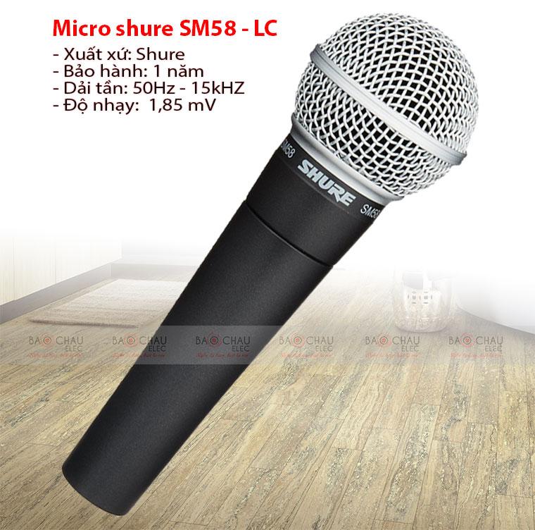 Micro shure SM58 – LC
