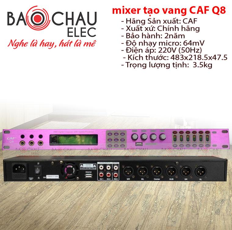 Bộ xử lý tín hiệu Mixer tạo vang CAF Q8