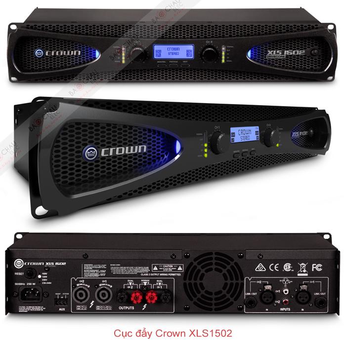 Cục đẩy công suất Crown XLS 1502 chi tiết các mặt