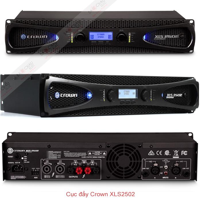 Cục đẩy Crown XLS2502 chi tiết