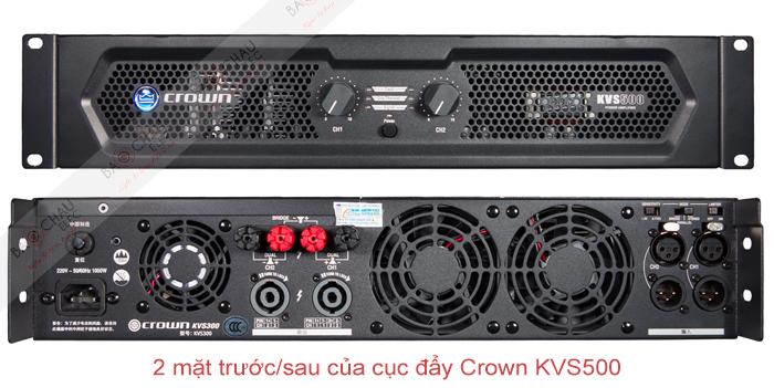 Cục đẩy công suất Crown KVS500 - mặt trước/sau