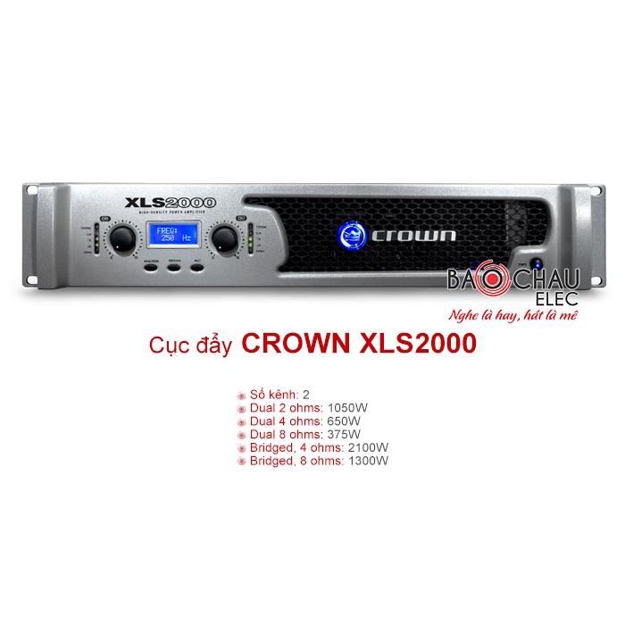 Cục đẩy Crown XLS 2000