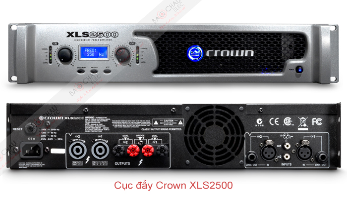 Cục đẩy Crown XLS2500 - 2 mặt trươc/sau