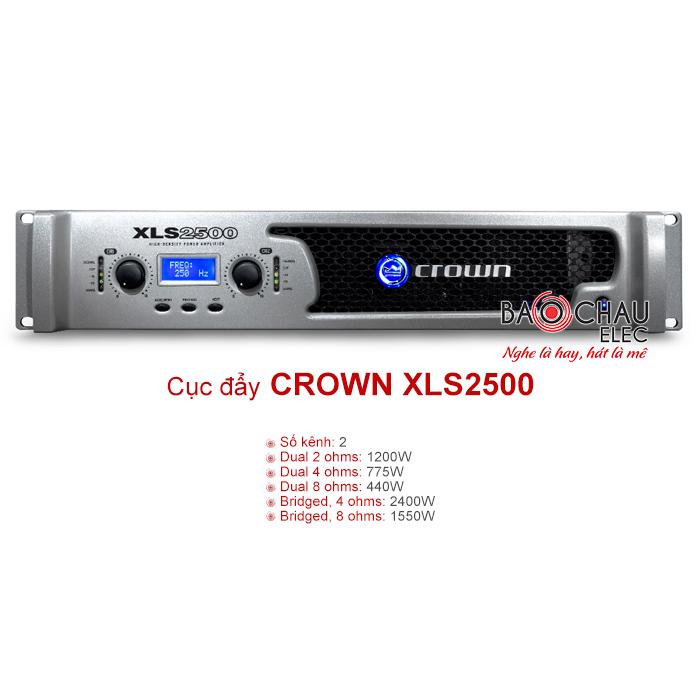 Cục đẩy Crown XLS 2500