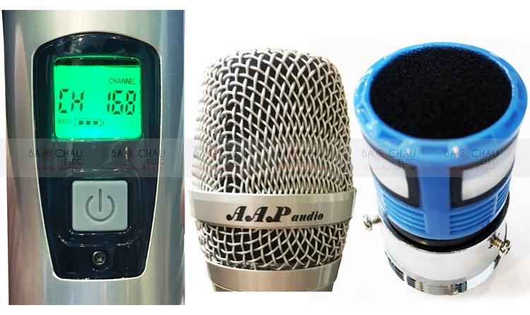 Micro AAP M6 - tay mic chi tiết