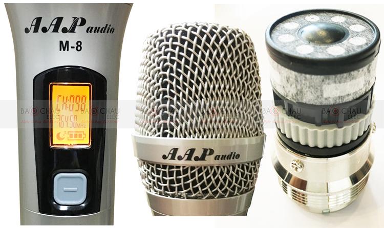 Micro không dây AAP M8 - tay mic chi tiết