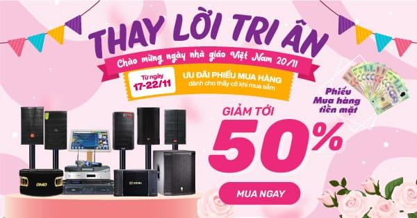 Khuyến mại lớn chào mừng ngày nhà giáo Việt Nam 20-11