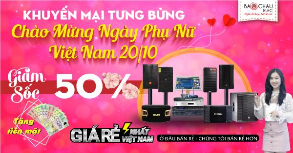 Khuyến mãi tưng bừng mừng ngày phụ nữ Việt nam 20-10