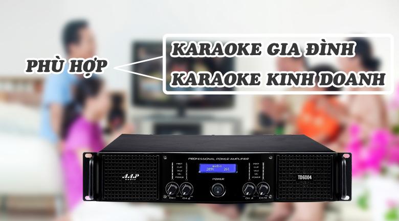 Cục đẩy AAP TD6004 mang lại hiệu quả sử dụng cao, phù hợp cho gia đình và phòng hát karaoke chuyên nghiệp