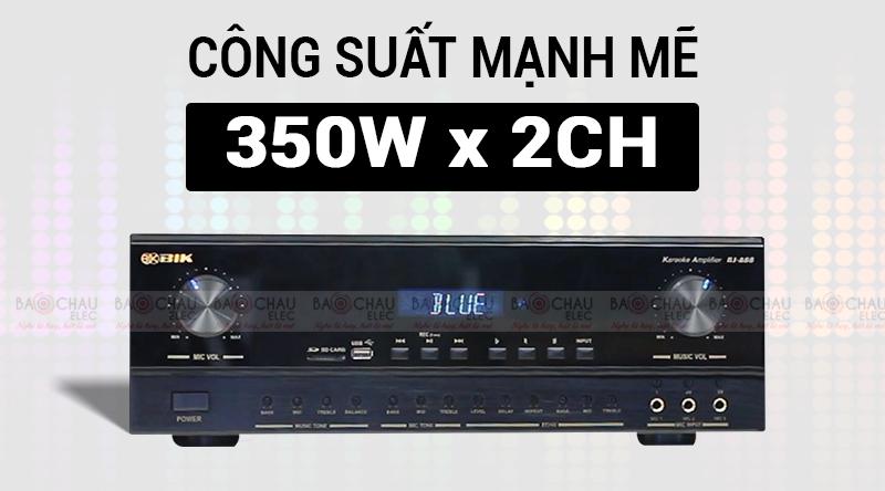 Amply karaoke BIK AV BJ-A88 công suất mạnh mẽ