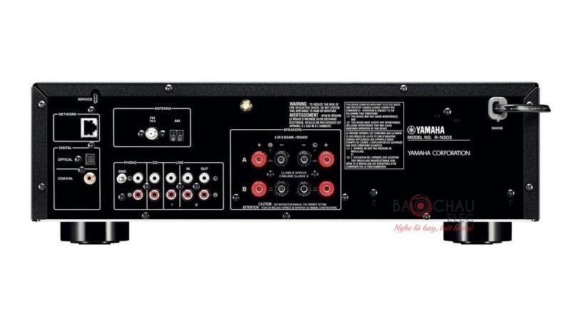Amply Yamaha R-N303 cung cấp đa kết nối với 4 đầu vào cùng 1 đầu ra