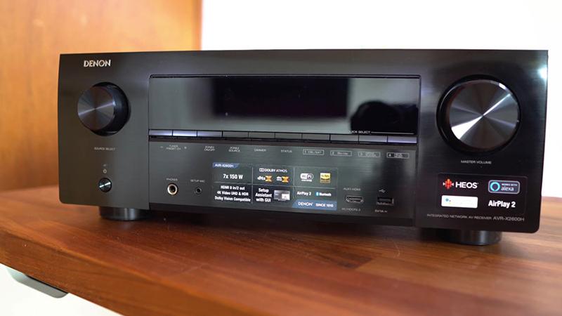 Amply Denon AVR-X2600H xử lý âm thanh hoàn hảo