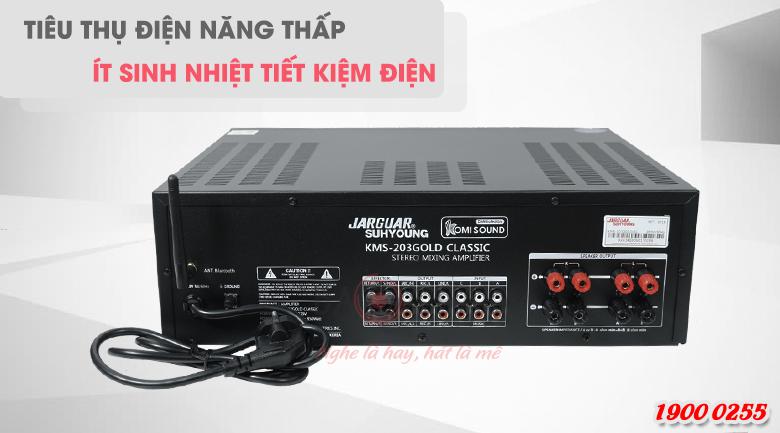 Amply karaoke tiêu thụ điện năng thấp, tiết kiệm điện