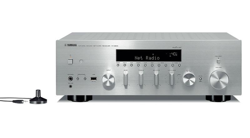 Amply Yamaha R N803 Silver thiết kế đẹp mắt