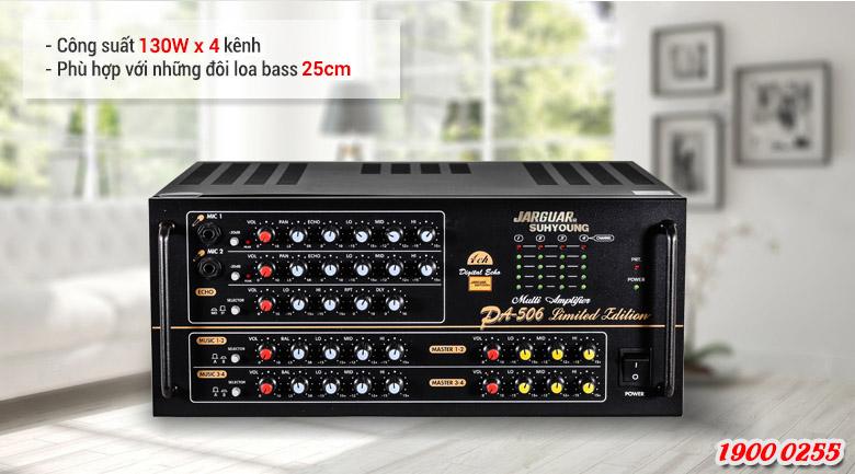 Amply Jarguar 506 Limited Edition công suất lớn cho chất lượng âm thanh mạnh mẽ và sống động