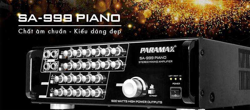 Amply Paramax SA999 Piano New xử lý âm thanh chuyên nghiệp