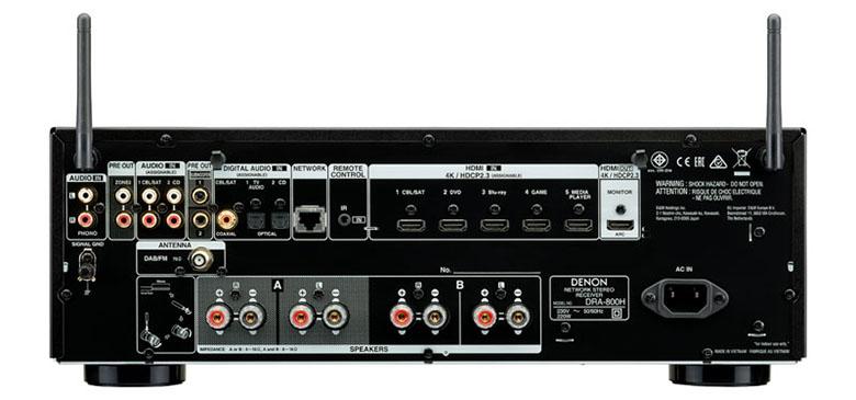 Ampli Denon DRA-800H nhiều tính năng mới