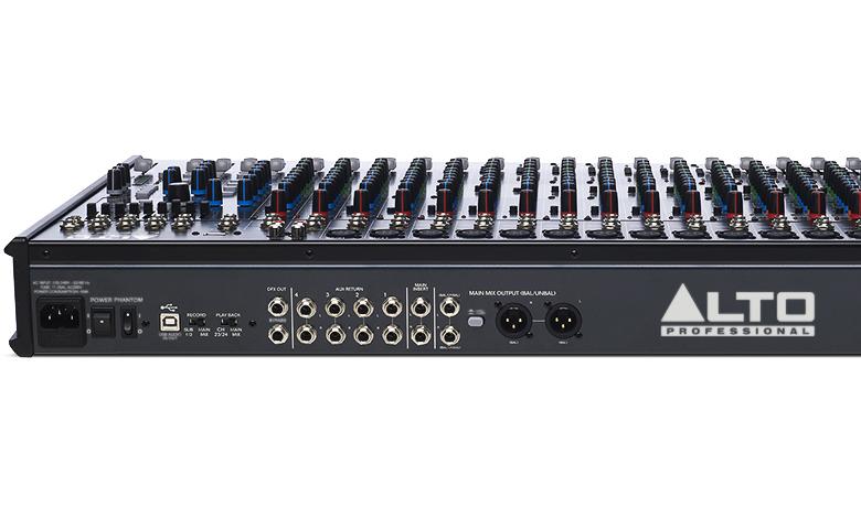 Bàn mixer Alto Live 2404 (24kênh/4bus) nhiều cổng kết nỗi thiết bị dễ dàng