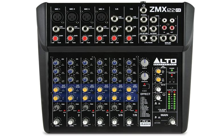 Bàn mixer mini Alto ZMX122FX nhỏ gọn, linh hoạt