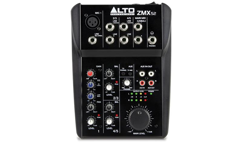 Mixer mini Alto ZMX52 mã hóa màu sắc rõ ràng