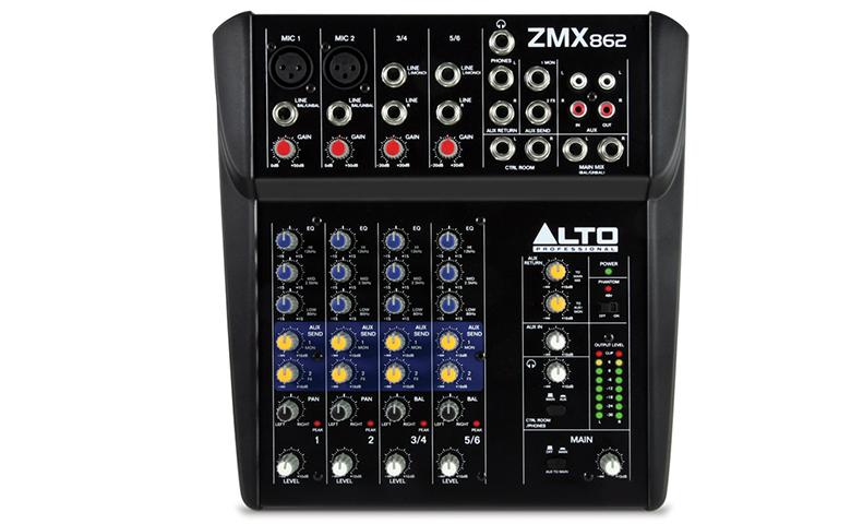 Bàn mixer mini Alto ZMX862 thiết kế nhỏ gọn, dễ dàng di chuyển