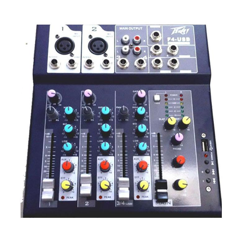 Bàn mixer Peavey F4-USB thiết kế rõ ràng, chi tiết