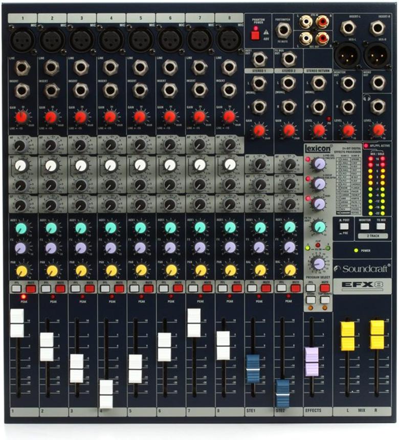 Mixer Soundcraft EFX8 (NK) thiết kế nhỏ gọn, tiện lợi