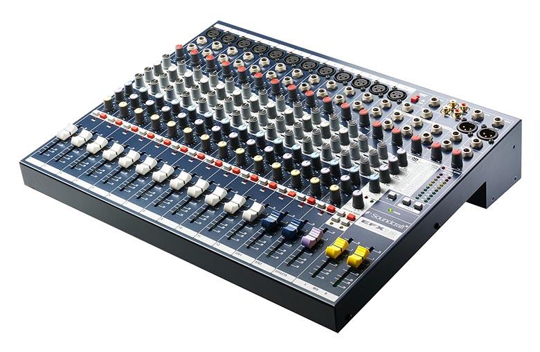 Bàn mixer SOUNDCRAFT EFX12 thiết kế nhỏ gọn