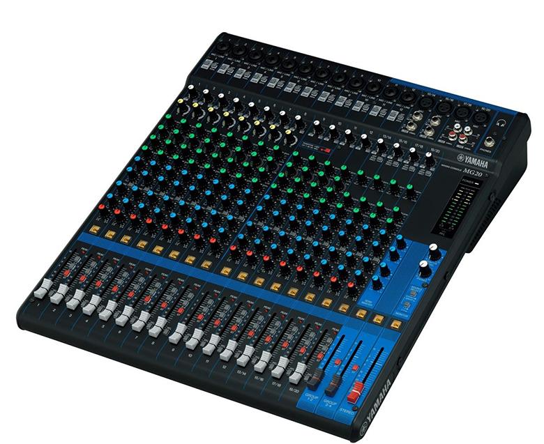 Bàn mixer Yamaha MG20XU thiết kế nhỏ gọn, dễ di chuyển