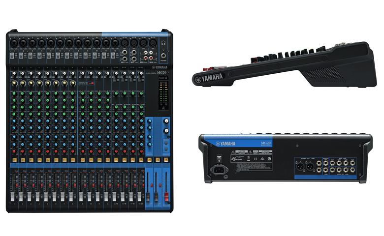 Bàn mixer Yamaha MG20XU hệ thống bàn trộn analog 20 kênh