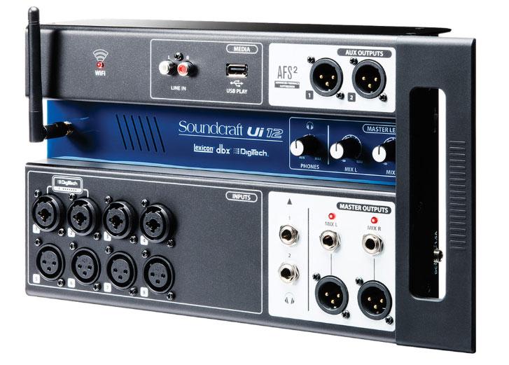 Mixer digital Soundcraft Ui12 nhỏ gọn, tiện lợi
