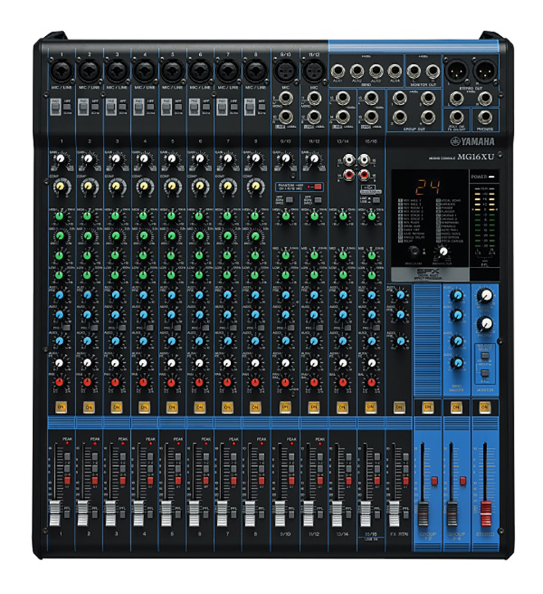 Bàn mixer Yamaha MG16XU thiết kế chi tiết, dễ hiểu