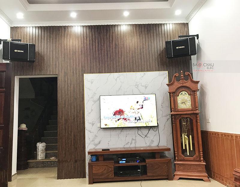 dàn karaoke gia đình anh Hùng tại Bắc Giang